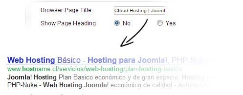 Joomla hosting SEO