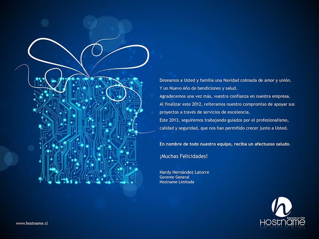 Saludo Navidad Hostname.cl