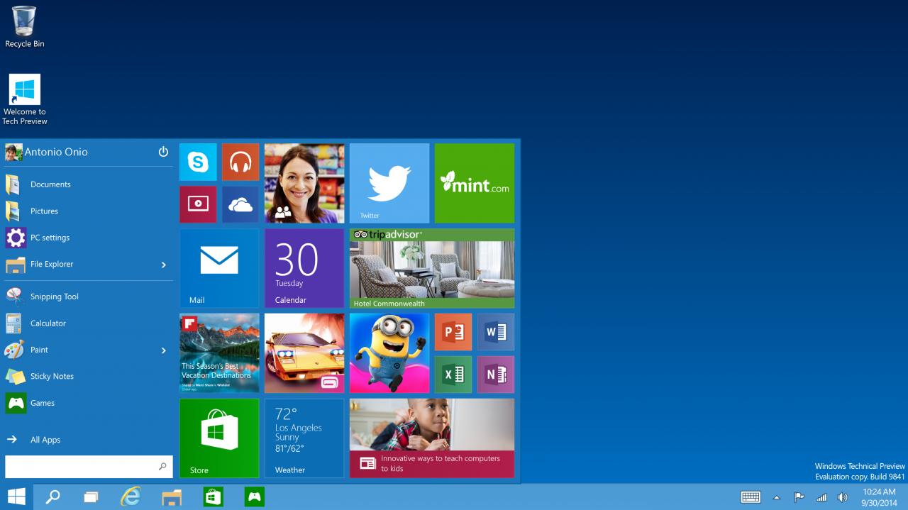 Windows 10 presentación