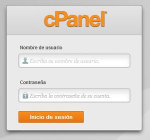 login de acceso cPanel