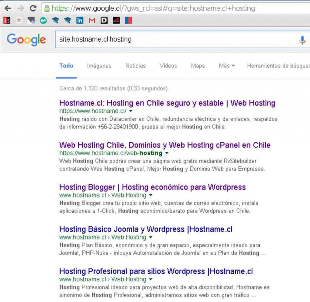Función de búsqueda 'site:'