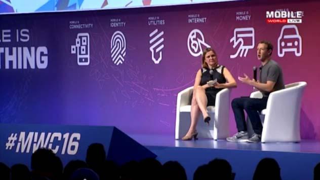Mark Zuckerberg da Charla en MWC