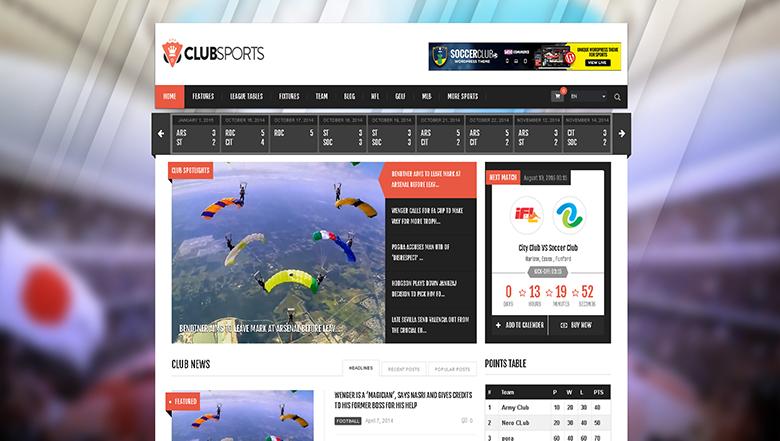 Plugins y plantillas para sitios web deportivos | Hostname.cl