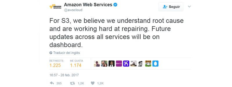 Respuesta de Amazon
