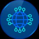 icono vector  alojamiento hosting reseller